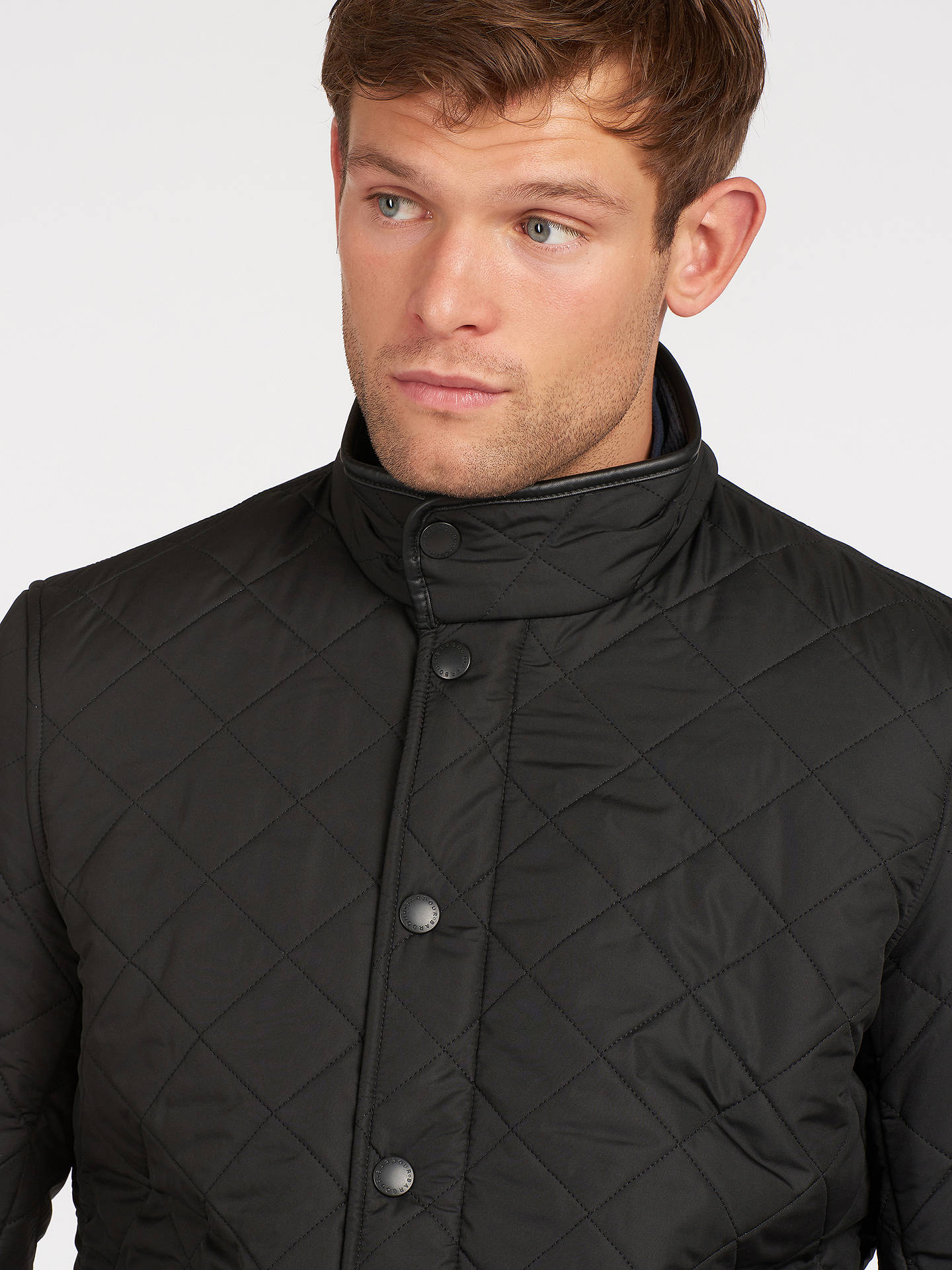Buy Barbour Lifestyle Powell Quilted Jacket, Black, M Online at johnlewis.com