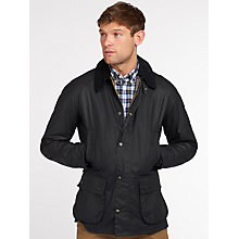 Buy Barbour Lifestyle Ashby Waxed Field Jacket, Navy Online at johnlewis.com