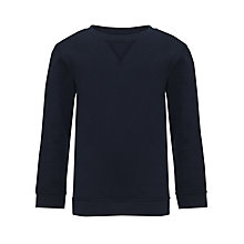 Buy John Lewis School Sweatshirt, Navy Online at johnlewis.com