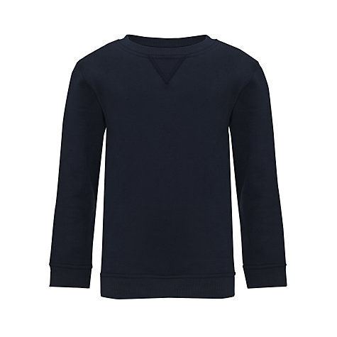 Buy John Lewis School Sweatshirt, Navy | John Lewis
