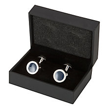 Buy BOSS Simony Rounded Cufflinks, Navy Online at johnlewis.com