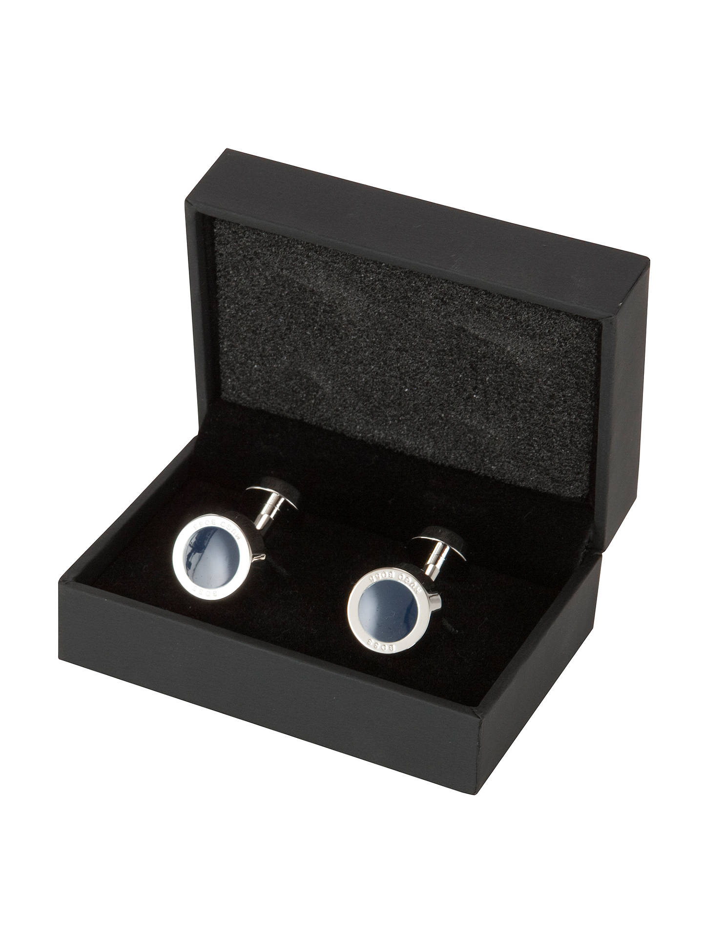 BuyBOSS Simony Rounded Cufflinks, Navy, One size Online at johnlewis.com