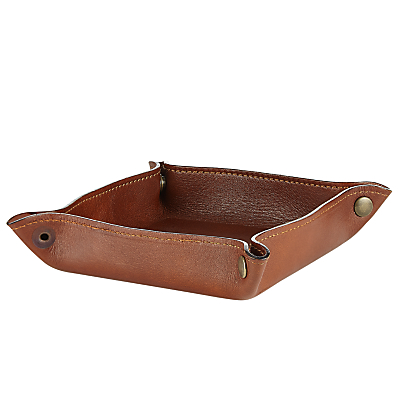 John Lewis Made in Italy Leather Valet Tray