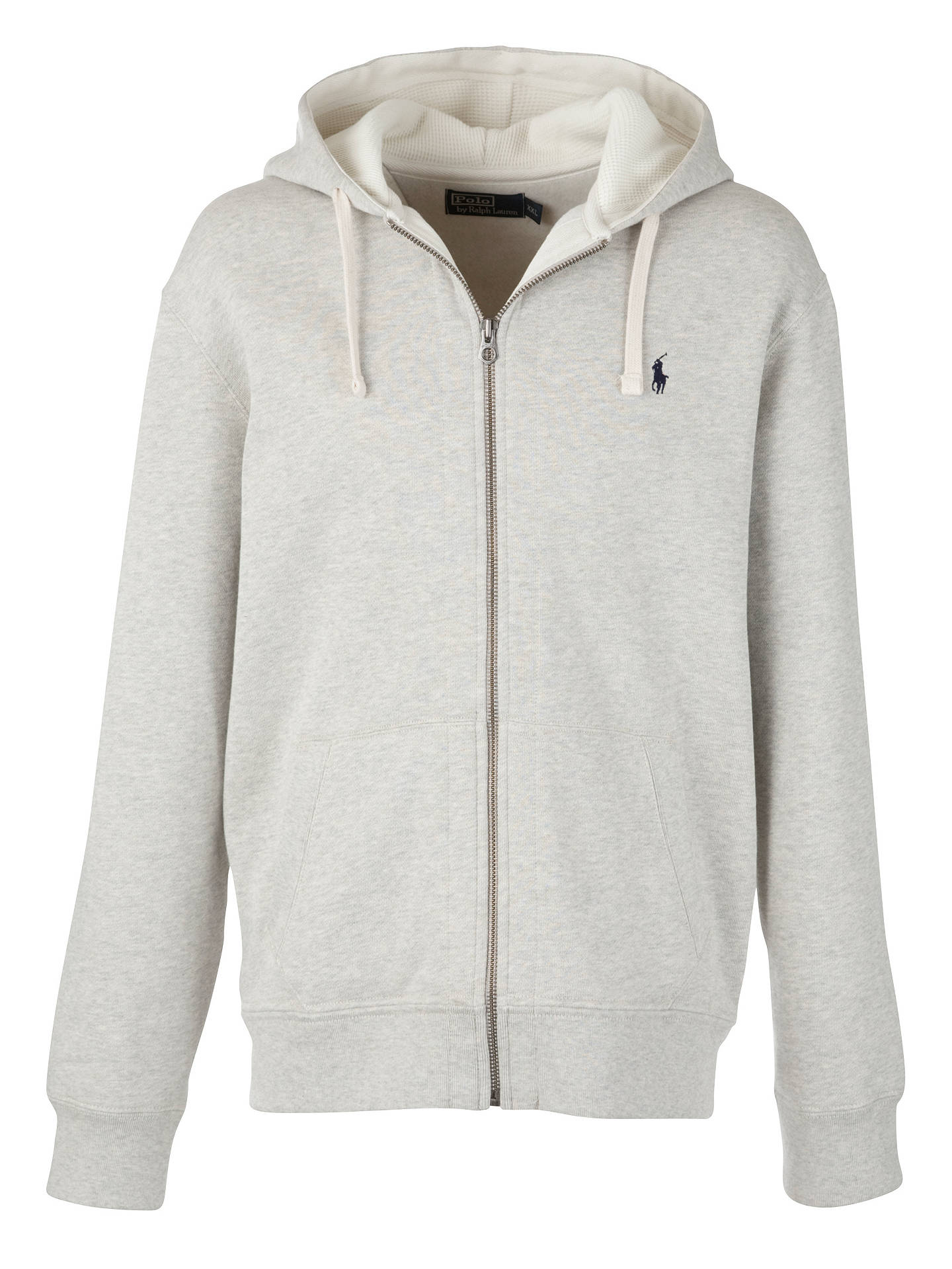 Polo Ralph Lauren Men's Grey Zip Up Hoodie | GIULIOFASHION