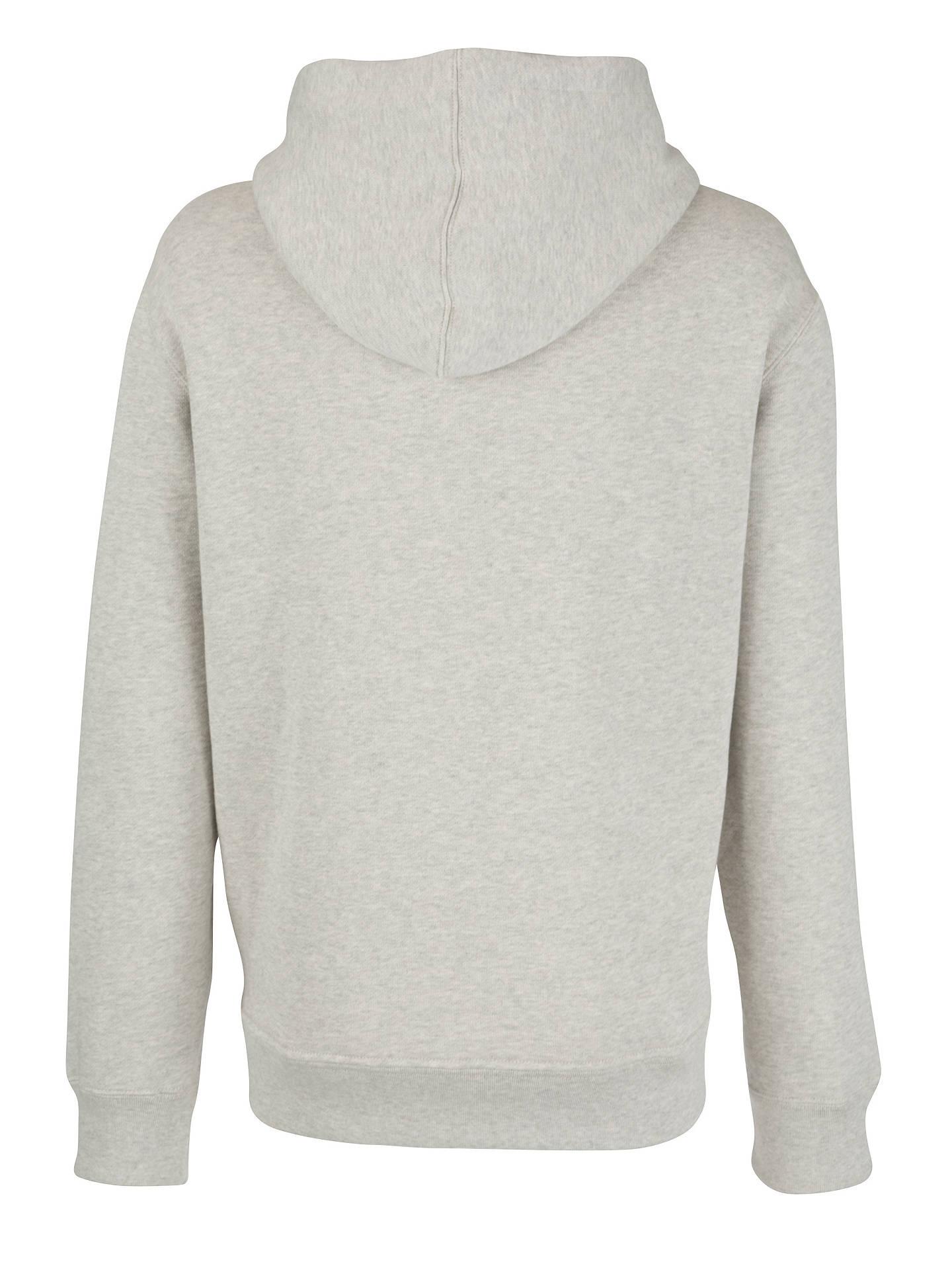 96356cd3179 Buy Polo Ralph Lauren Full Zip Cotton Hoodie, Grey, S Online at johnlewis.