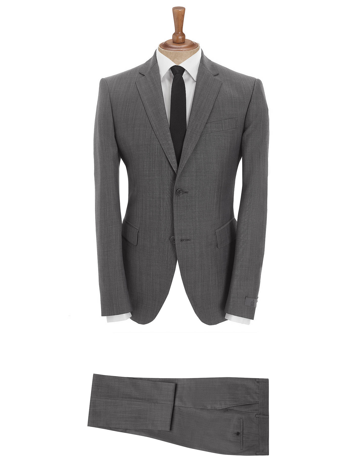 4320a99d4ad6 Buy CK Calvin Klein Shine Wool Gabardine Suit, Mid Grey, 38R Online at  johnlewis ...