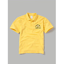 Buy Blacklow Brow Primary School Unisex Polo Shirt, Yellow Online at johnlewis.com