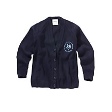 Buy St Vincent's Catholic Primary School Girls' Cardigan, Navy Online at johnlewis.com