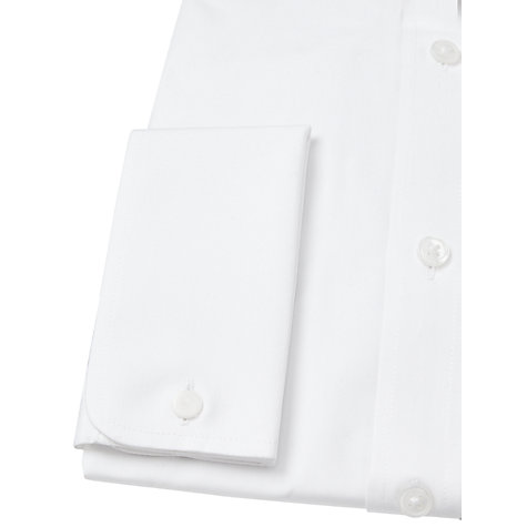 Buy John Lewis Cotton Double Cuff Regular Fit Shirt, White Online at johnlewis.com