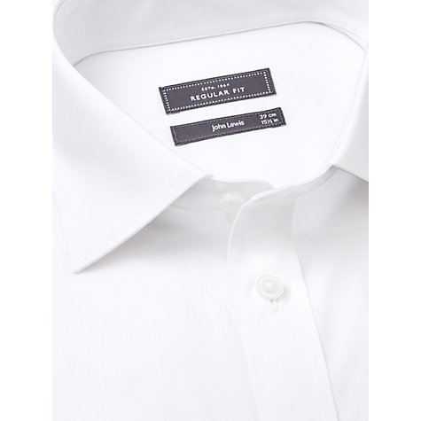 Buy John Lewis Pima Cotton Single Cuff Regular Fit Shirt, White Online at johnlewis.com