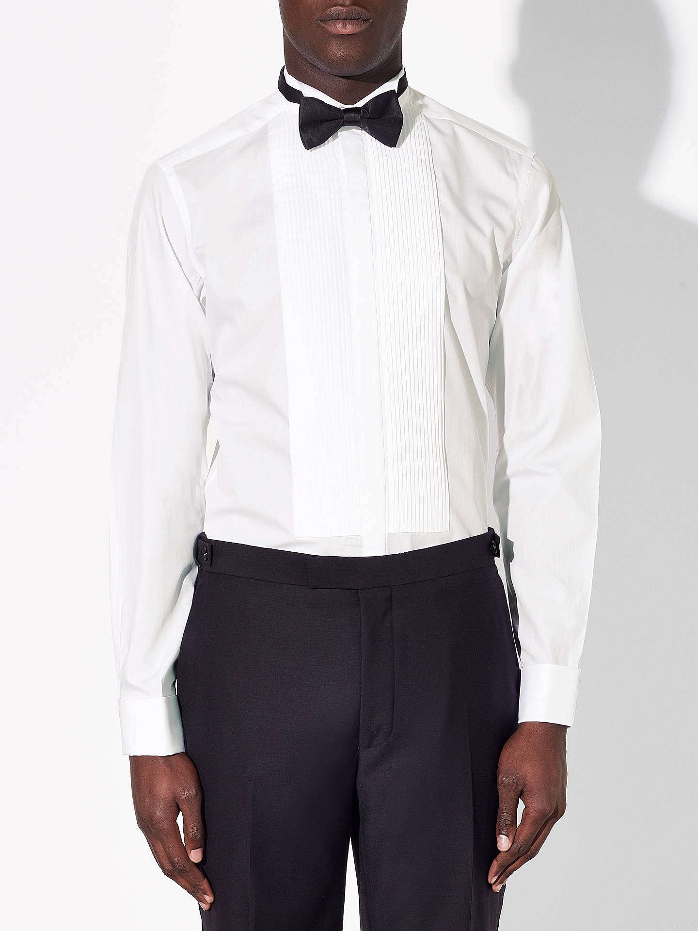 John Lewis Wing Collar Tailored Dress Shirt White At John Lewis