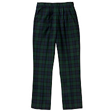 Buy Copthall School Girls' Tartan Trousers, Multi Online at johnlewis.com