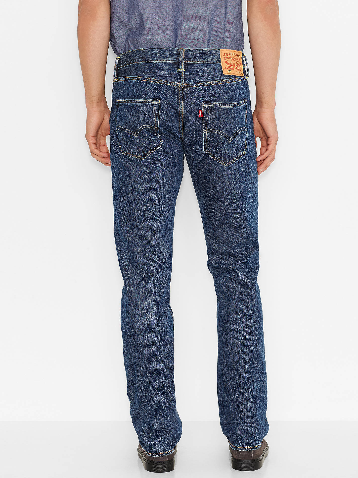 f78f7d80 ... Buy Levi's 501 Original Straight Jeans, Stonewash, 30S Online at  johnlewis. ...