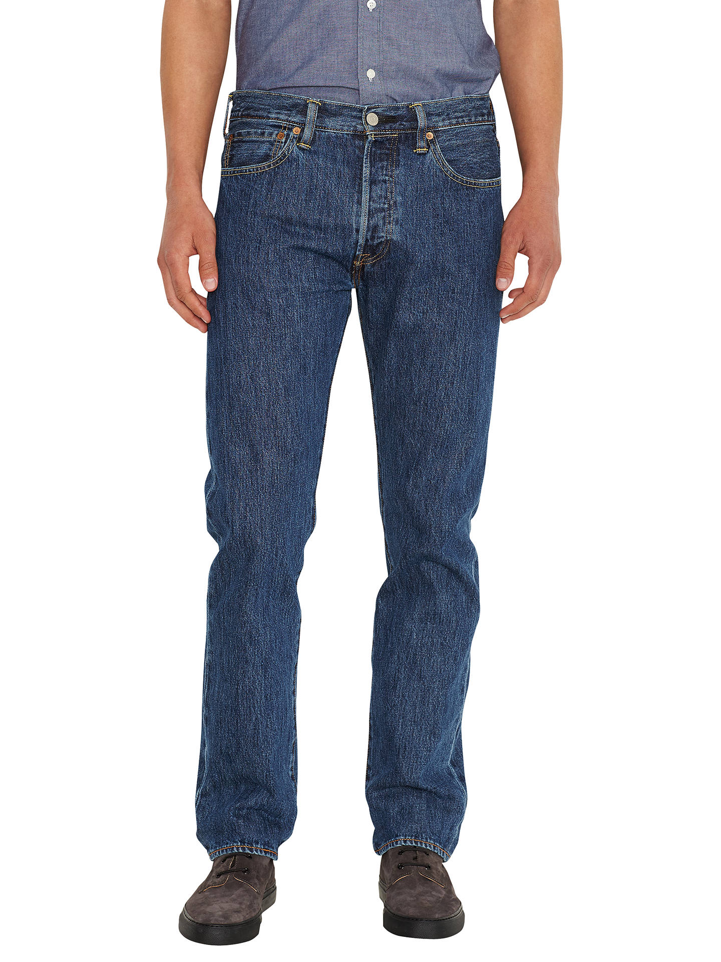 2210a30c Buy Levi's 501 Original Straight Jeans, Stonewash, 30S Online at johnlewis.  ...