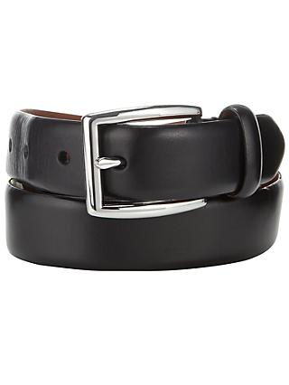 Polo Ralph Lauren Polished Buckle Leather Belt, Black