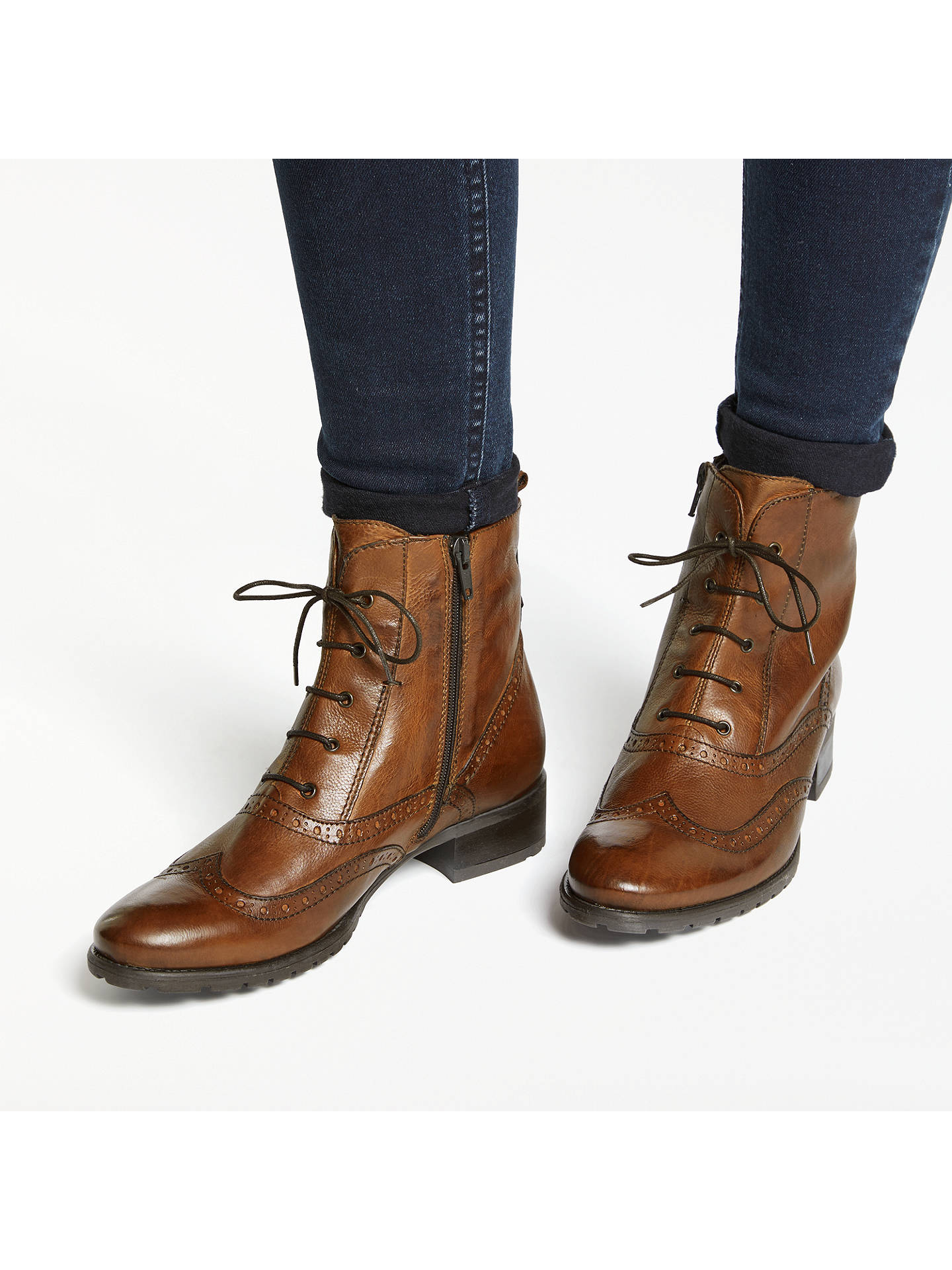 e3caf6b41b2 John Lewis Cambridge Leather Zip Up Ankle Boots at John Lewis   Partners