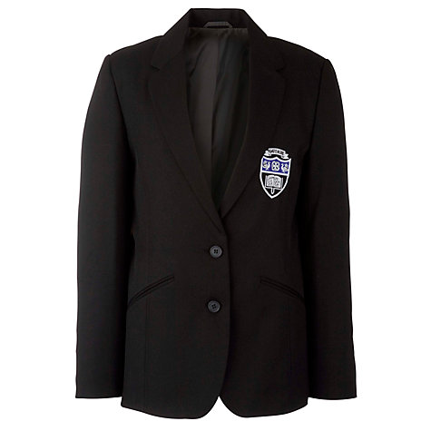Buy Gateacre School Girls' Eco Blazer, Black Online at johnlewis.com