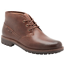 Buy Clarks Montacute Duke Leather Chukka Boots, Dark Brown Online at johnlewis.com