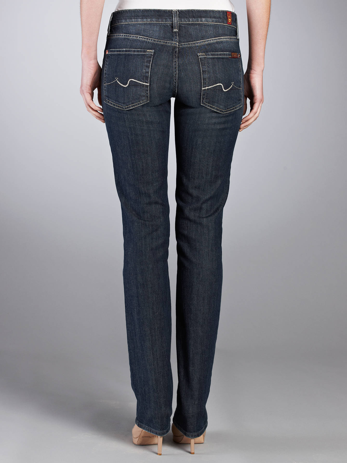 Buy7 For All Mankind Straight Leg Jeans New York Dark W25 L33 Online