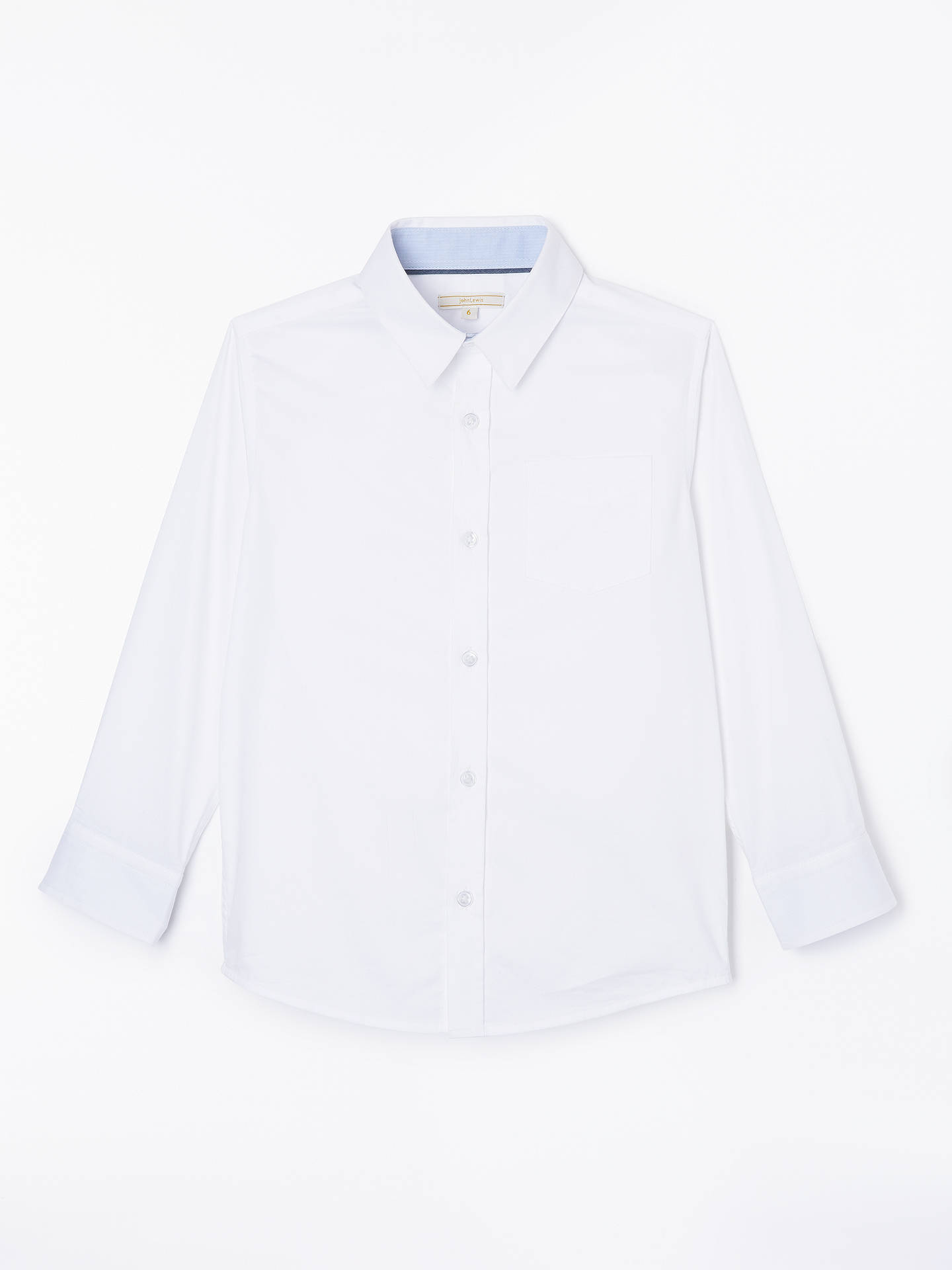 BuyJohn Lewis & Partners Heirloom Collection Boys' Plain Textured Herringbone Shirt, White, 2 years Online at johnlewis.com