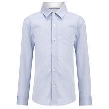 Buy John Lewis Heirloom Collection Plain Textured Herringbone Shirt, Blue Online at johnlewis.com