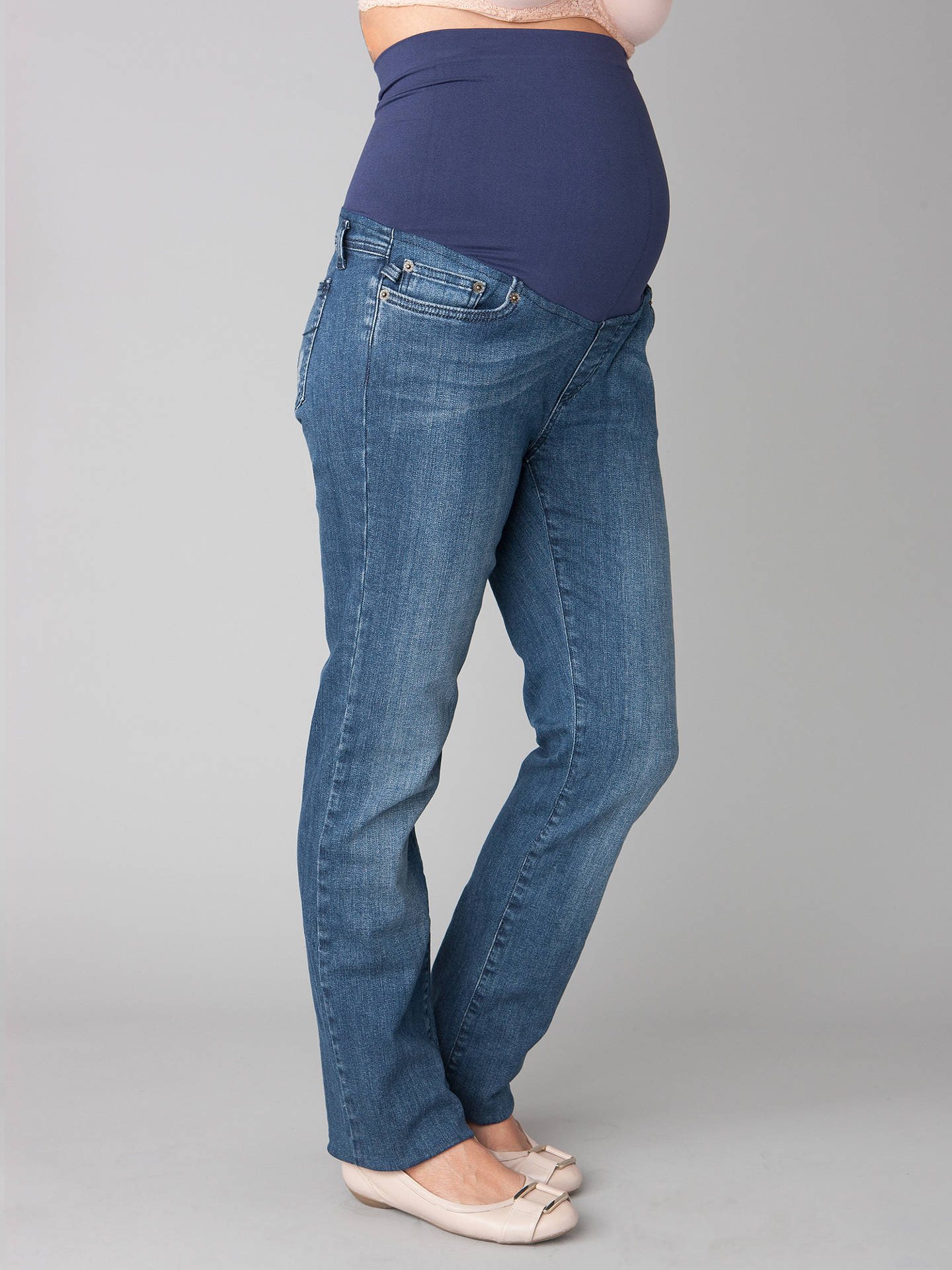 5d21ee9ce0049 Buy Séraphine Over Bump Maternity Jeans, Blue, 10 Online at johnlewis.com  ...