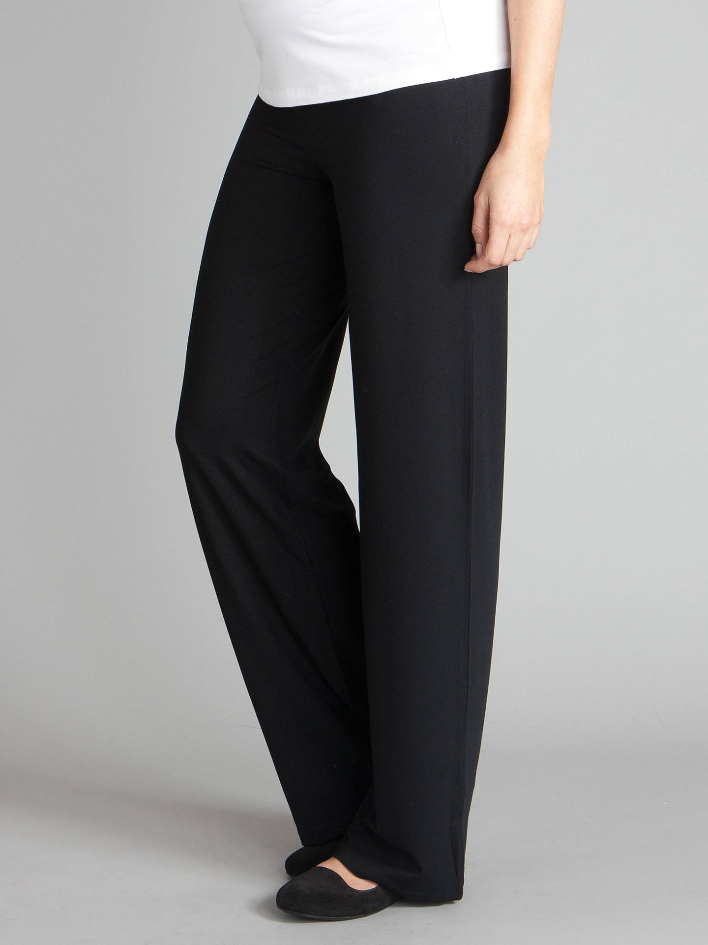 26599b8117425 Buy Séraphine Monica Roll Over Maternity Trousers, Black, 8 Online at  johnlewis.com ...
