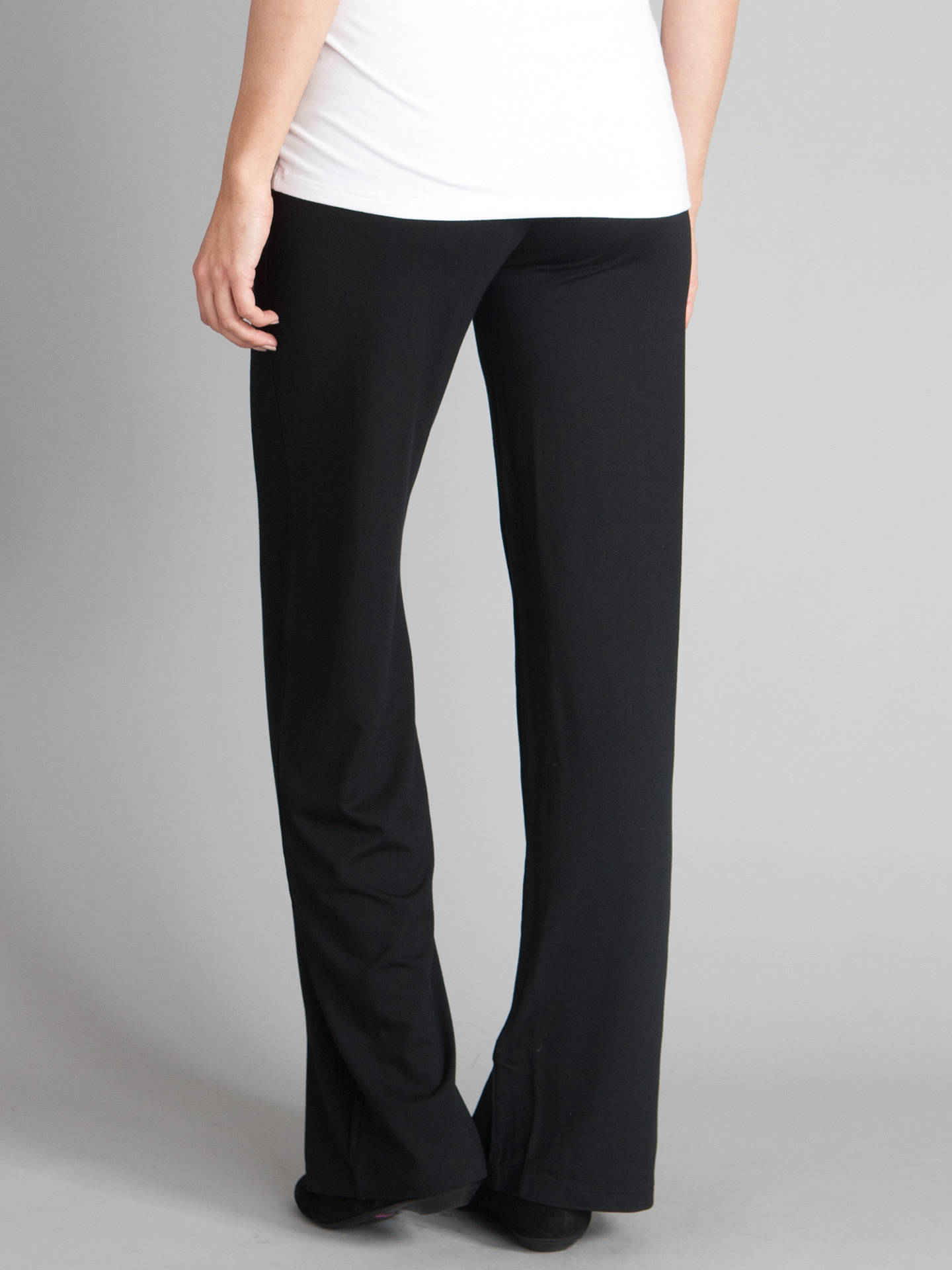 80549eeb5a99a ... Buy Séraphine Monica Roll Over Maternity Trousers, Black, 8 Online at  johnlewis.com ...
