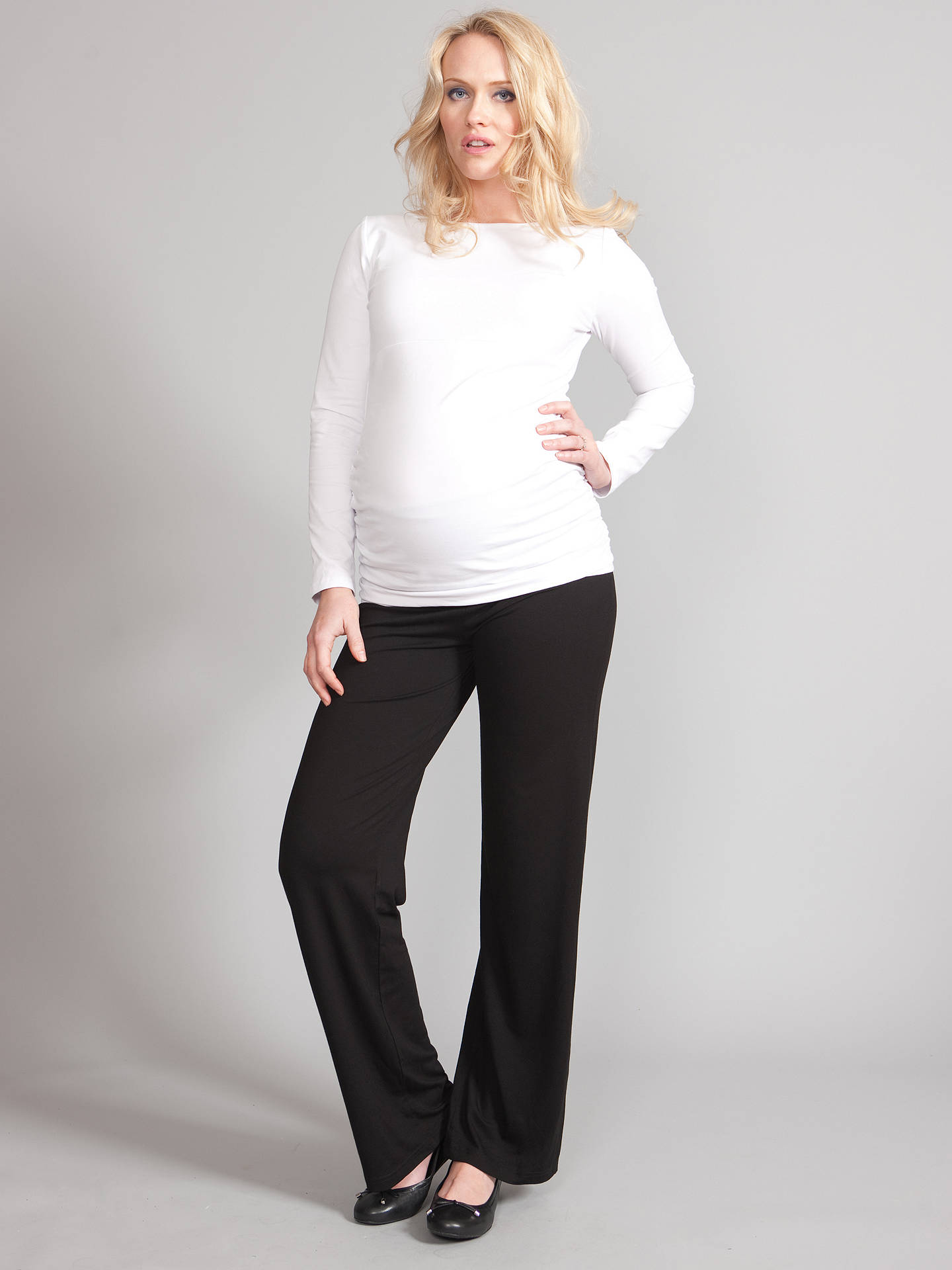 e2efd43b17662 ... Buy Séraphine Monica Roll Over Maternity Trousers, Black, 8 Online at  johnlewis.com