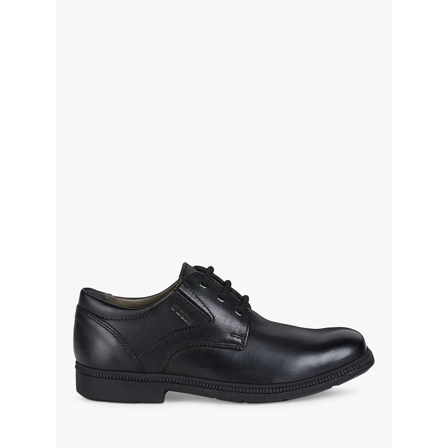BuyGeox Federico Laced Shoes, Black, 36 Online at johnlewis.com ...