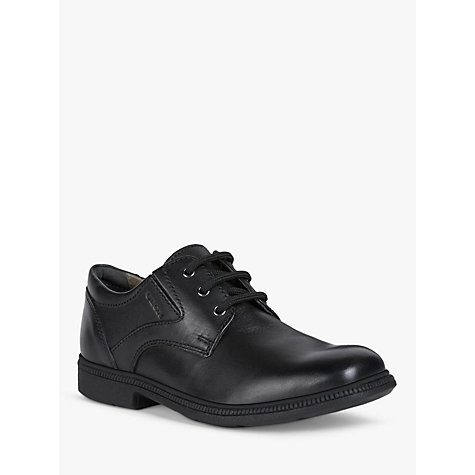 Buy Geox Federico Laced Shoes, Black Online at johnlewis.com