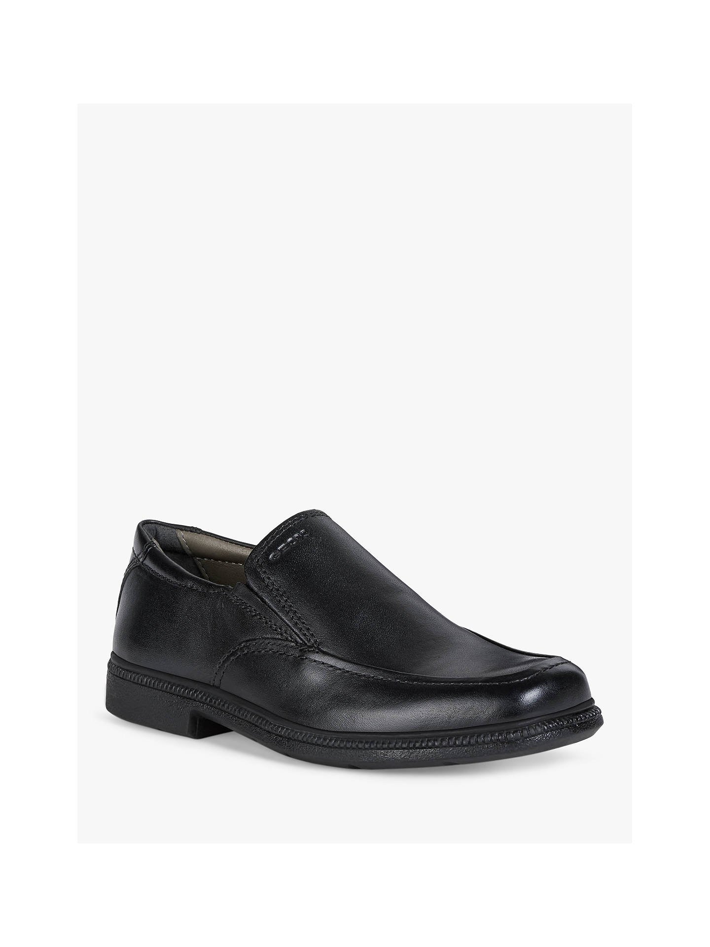 Geox Children's Federico Boots, Black Leather at John Lewis
