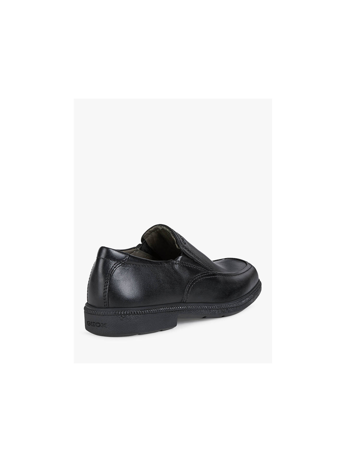 Buy Geox Children's Federico Slip-on Shoes, Black, 36 Online at johnlewis.com
