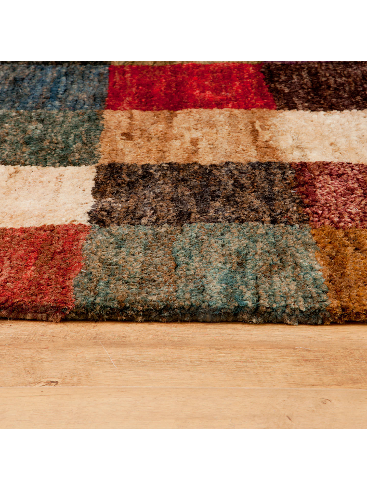 John Lewis Partners Bold Blanket Mat Rug Multi At