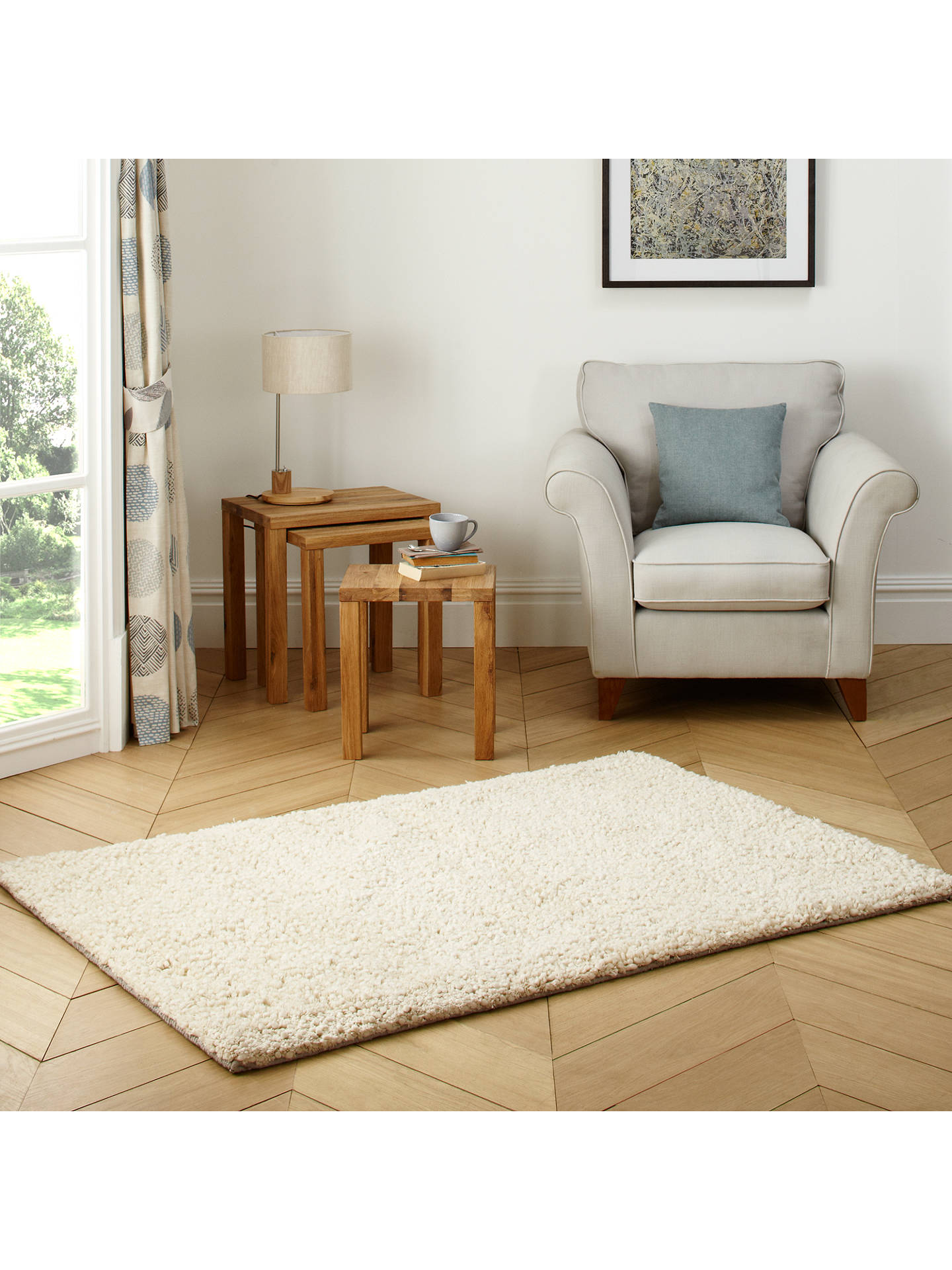 Buy John Lewis & Partners Darwin Rug, Cream, L240 x W170cm Online at johnlewis.com