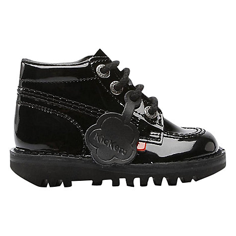 Buy Kickers Hi Boots, Black Patent Online at johnlewis.com