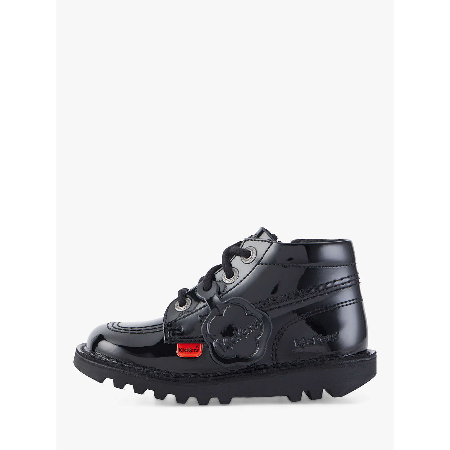 BuyKickers Hi Boots, Black Patent, 25 Online at johnlewis.com