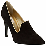 Somerset by Alice Temperley Hazel Suede Point Toe Court Shoes, Black £140