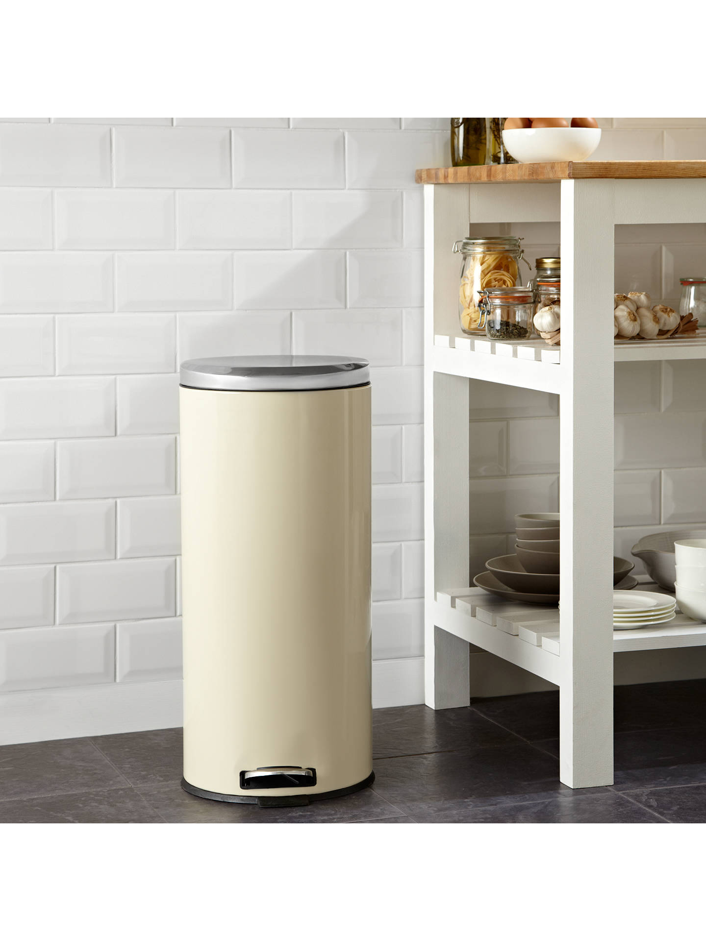 BuyJohn Lewis & Partners Pedal Bin, 30L, Cream Online at johnlewis.com