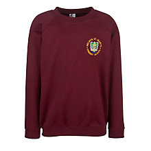 Buy Welwyn St Mary's Primary School Sweatshirt, Maroon Online at johnlewis.com