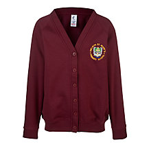 Buy Welwyn St Mary's Primary School Sweat Cardigan, Maroon Online at johnlewis.com