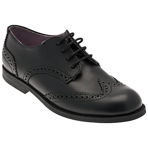 Buy Start-rite Children's Burford Leather Lace-Up Shoes, Black Online at johnlewis.com
