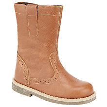 Buy John Lewis Isobel Leather Boots, Brown Online at johnlewis.com