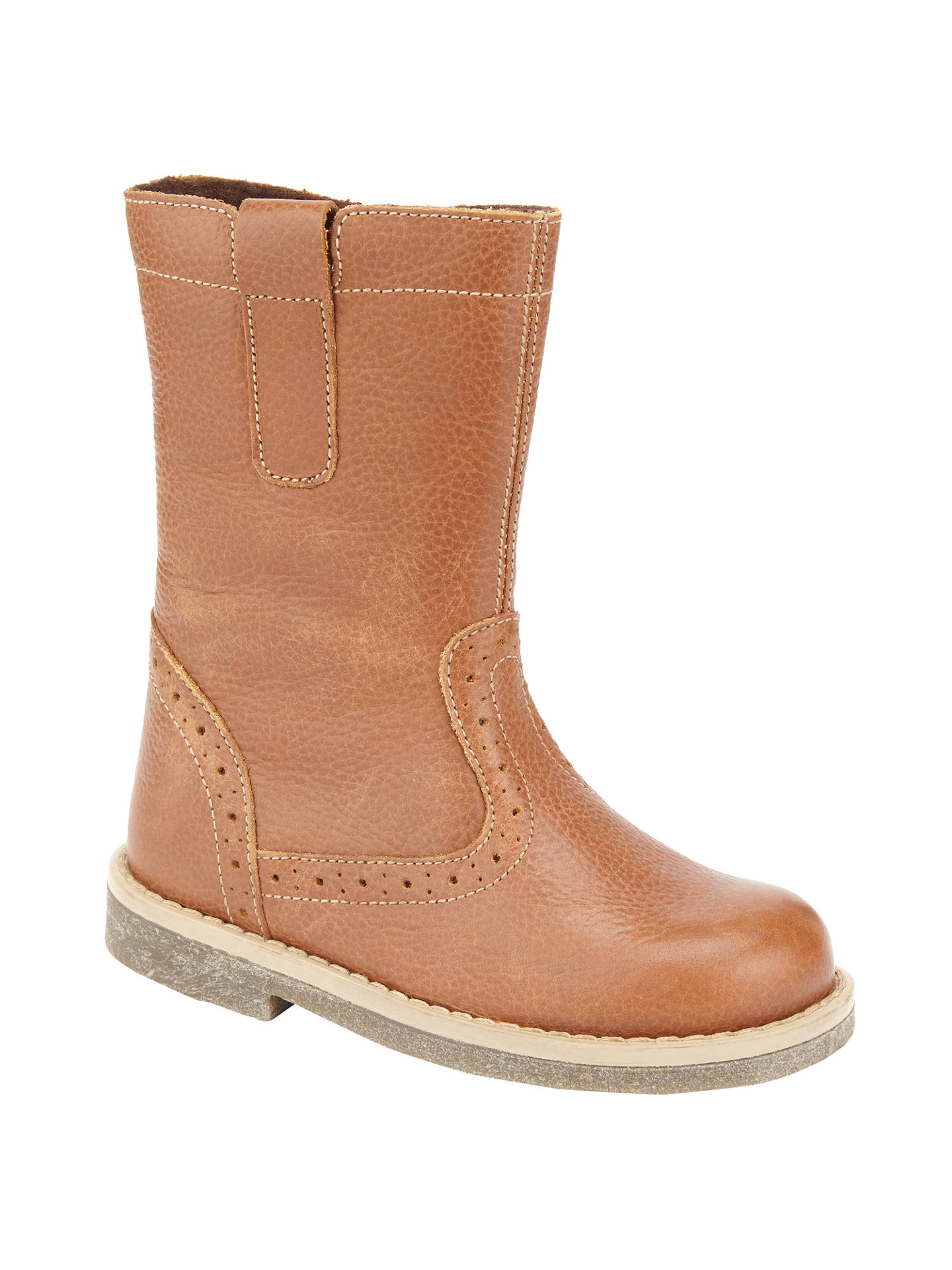BuyJohn Lewis & Partners Isobel Leather Boots, Brown, 23 Online at johnlewis.com