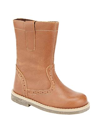 John Lewis & Partners Children's Isobel Leather Boots