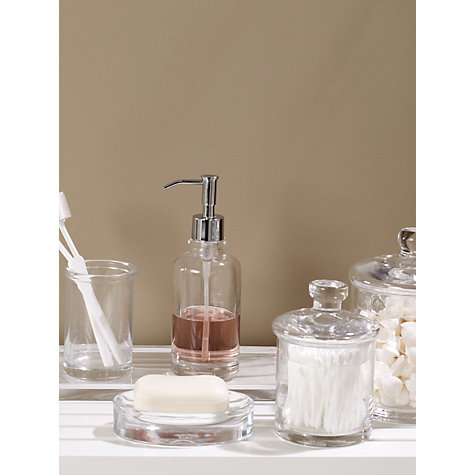 Buy john lewis croft collection glass lotion soap for Bathroom storage ideas john lewis