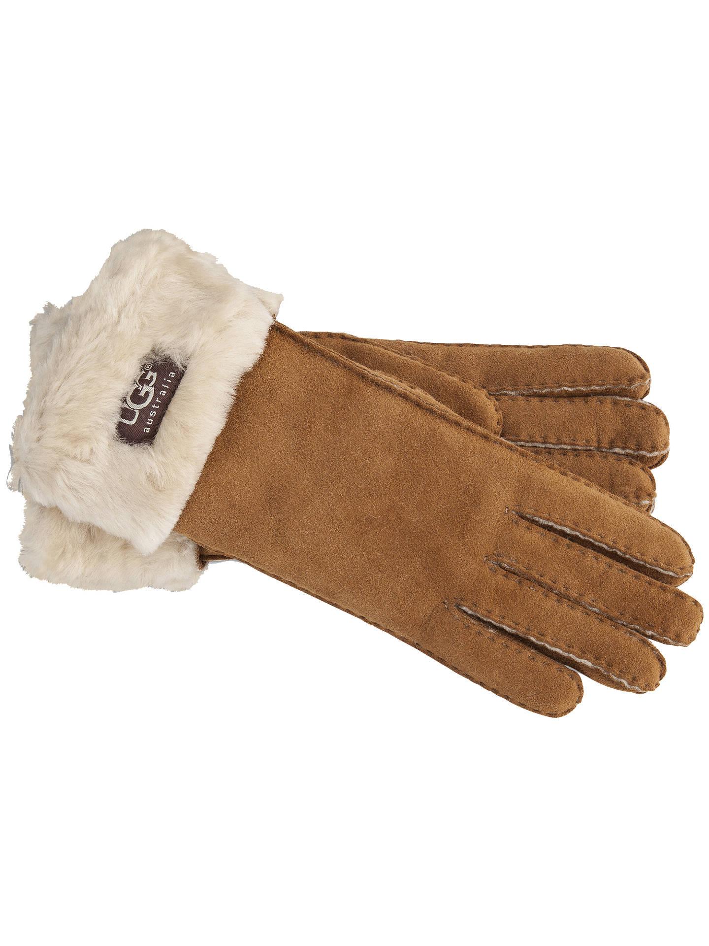 38d67f75f6f UGG Shearling Sheepskin Turn Cuff Gloves at John Lewis & Partners