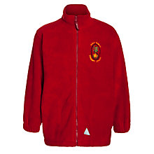 Buy Holy Family School Unisex Fleece, Red Online at johnlewis.com