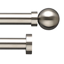 John Lewis Stainless Steel Curtain Pole Range, Dia.25mm