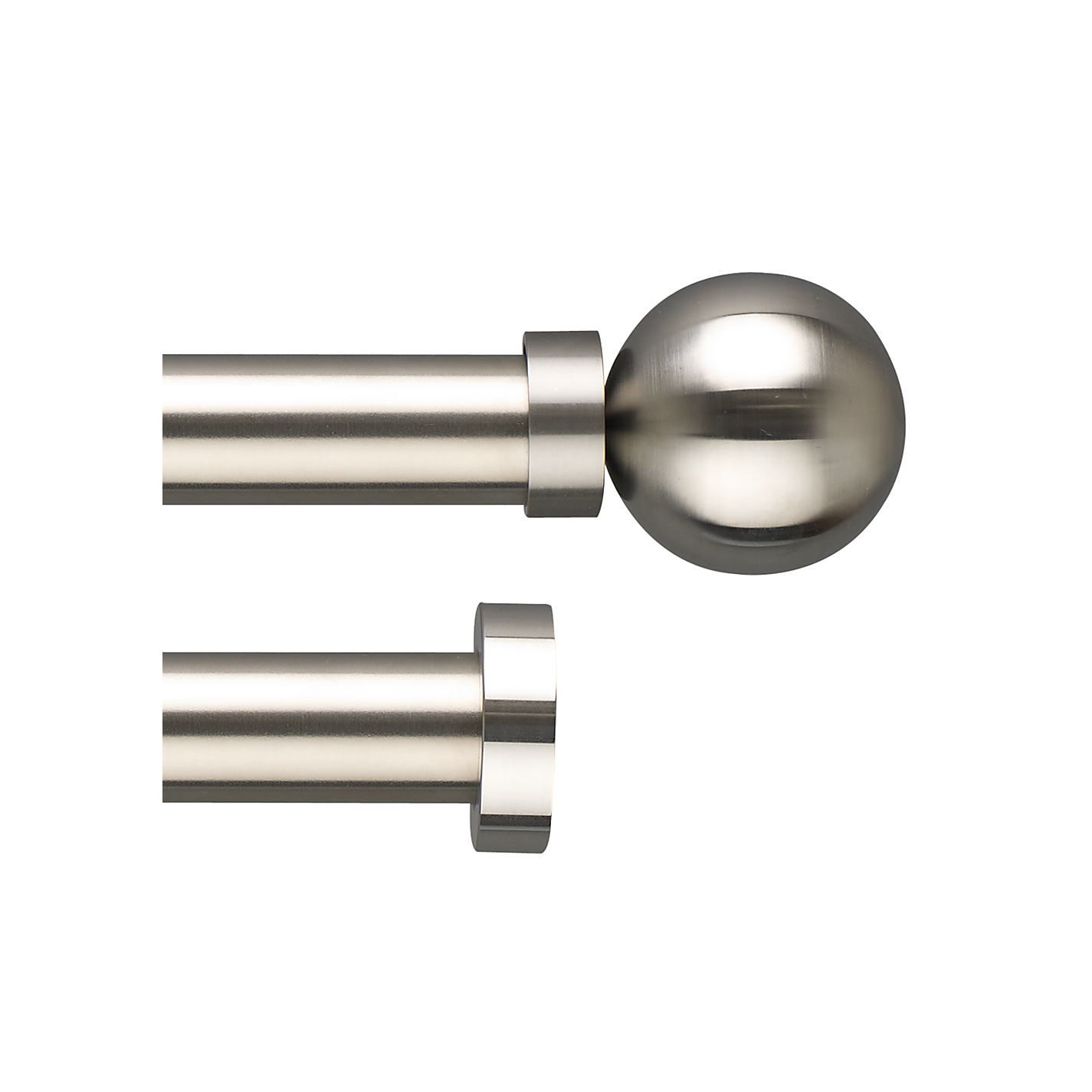 Buy John Lewis Stainless Steel Curtain Pole Range, Dia.30mm | John ...